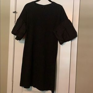 Black Balloon Sleeved Dress! New with tags!